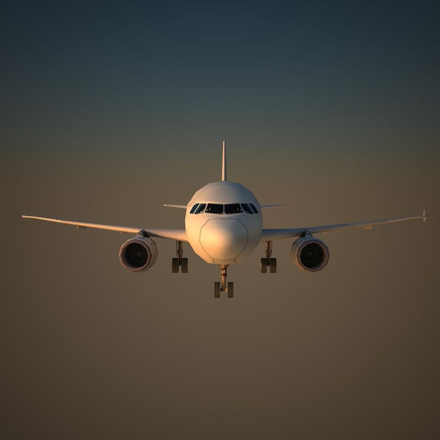 A319 Basic royalty-free 3d model - Preview no. 2