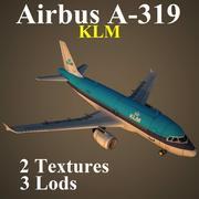 A319 KLM 3d model