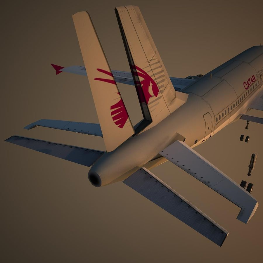 A319 QTR royalty-free 3d model - Preview no. 12