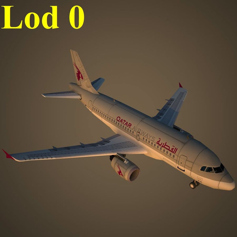 A319 QTR royalty-free 3d model - Preview no. 13