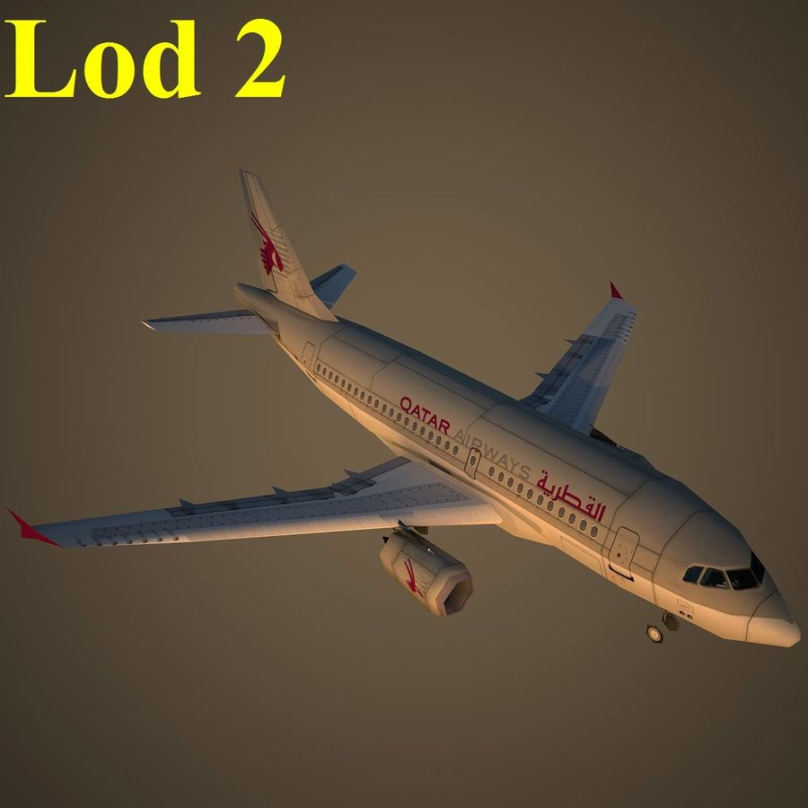 A319 QTR royalty-free 3d model - Preview no. 15