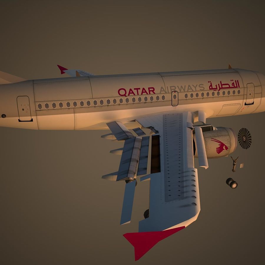 A319 QTR royalty-free 3d model - Preview no. 11