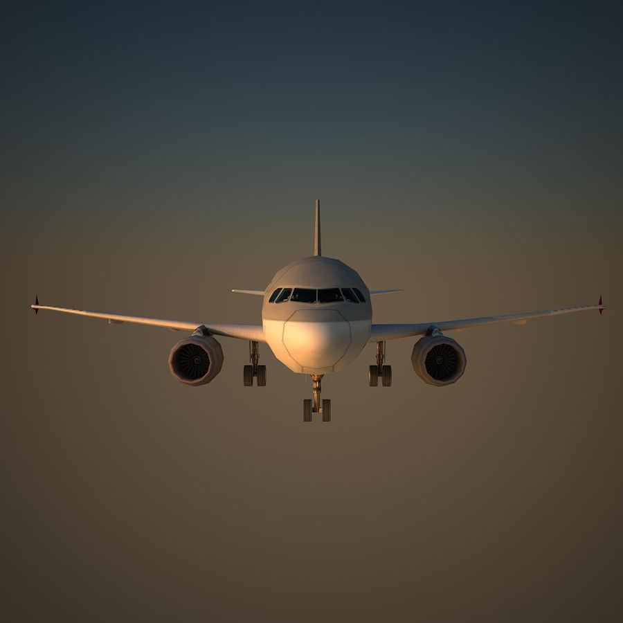 A319 QTR royalty-free 3d model - Preview no. 2