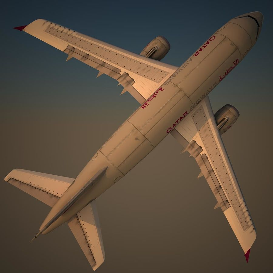A319 QTR royalty-free 3d model - Preview no. 5