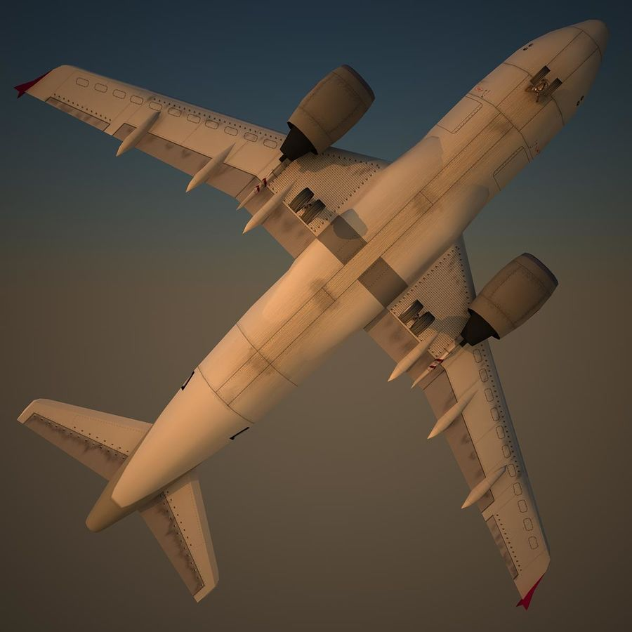 A319 QTR royalty-free 3d model - Preview no. 6