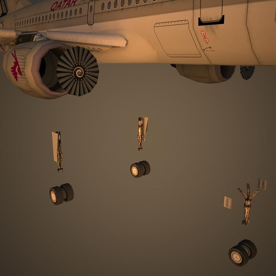 A319 QTR royalty-free 3d model - Preview no. 10