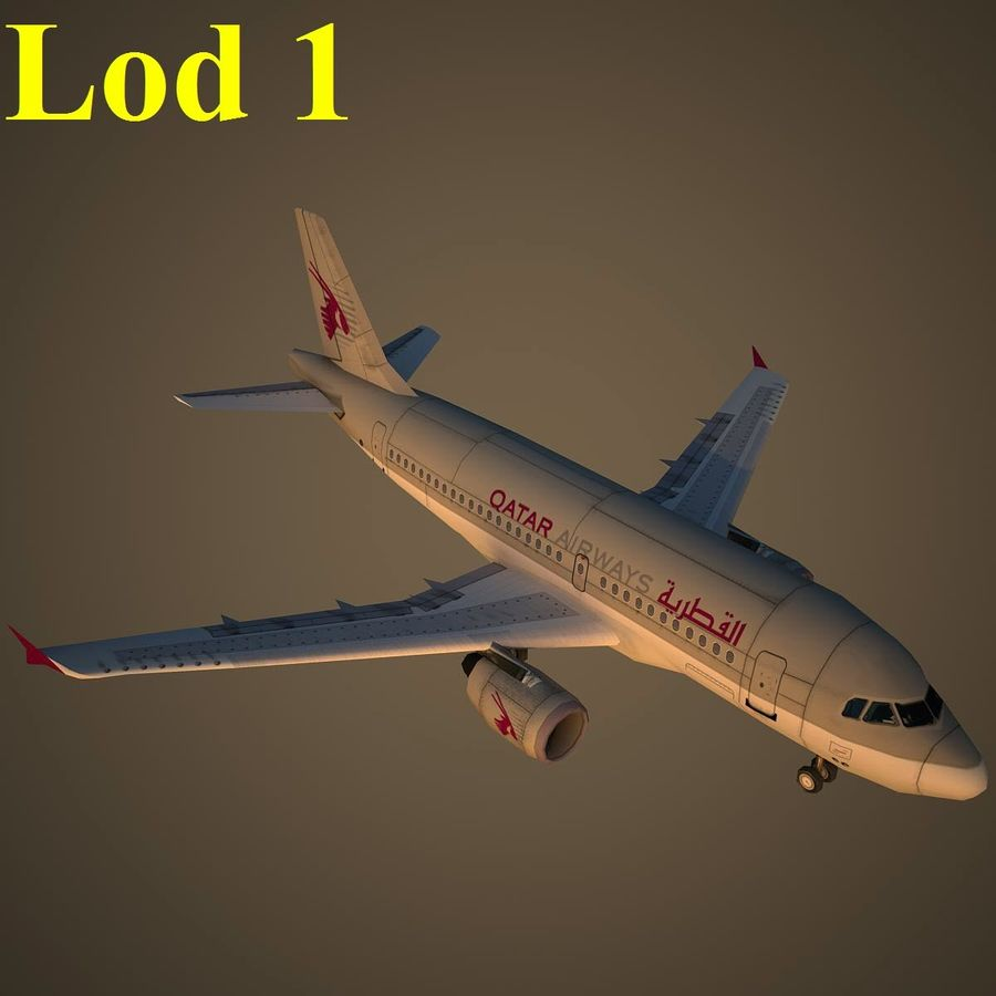 A319 QTR royalty-free 3d model - Preview no. 14