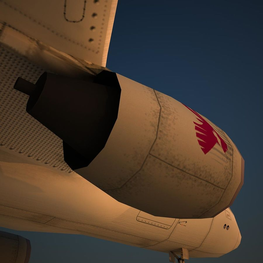 A319 QTR royalty-free 3d model - Preview no. 8