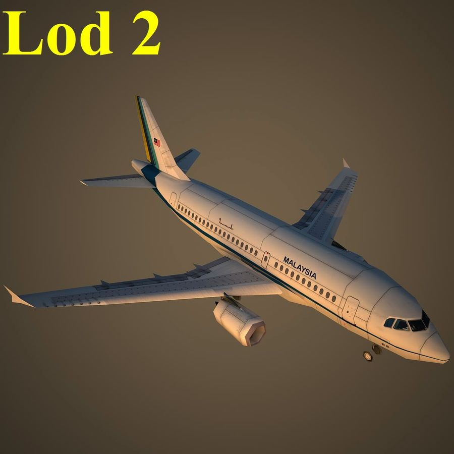 A319 RMF royalty-free 3d model - Preview no. 15
