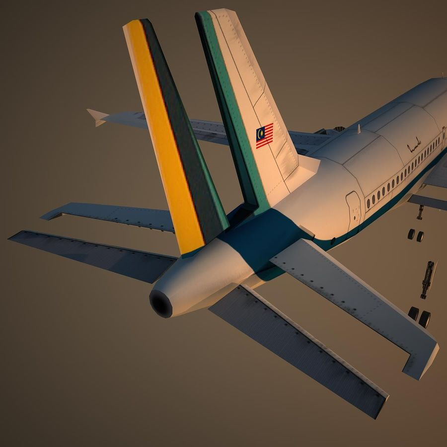 A319 RMF royalty-free 3d model - Preview no. 12
