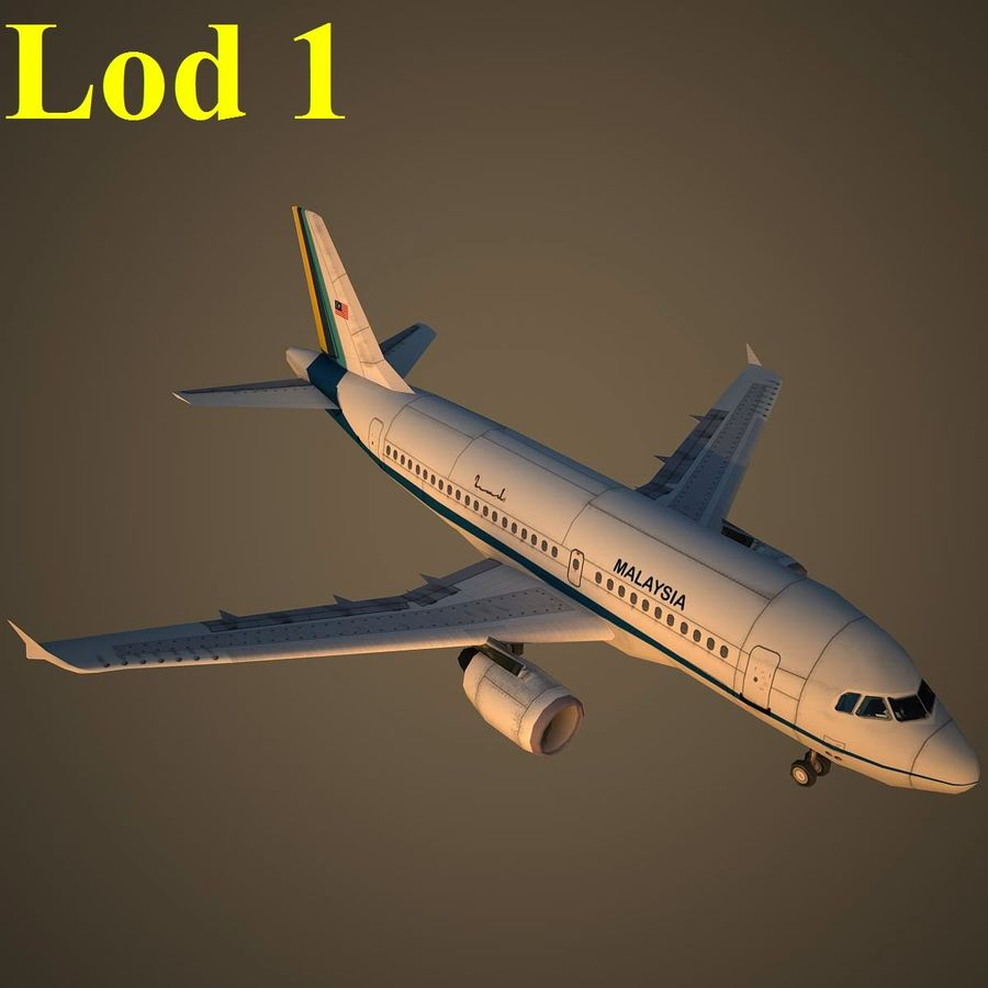 A319 RMF royalty-free 3d model - Preview no. 14