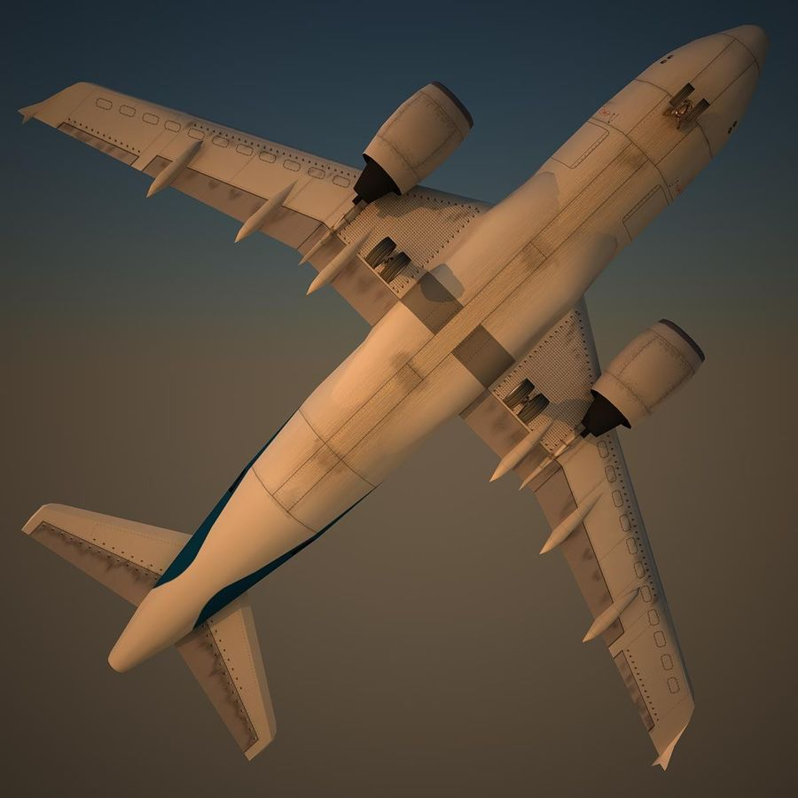 A319 RMF royalty-free 3d model - Preview no. 6