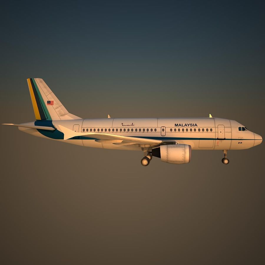 A319 RMF royalty-free 3d model - Preview no. 3