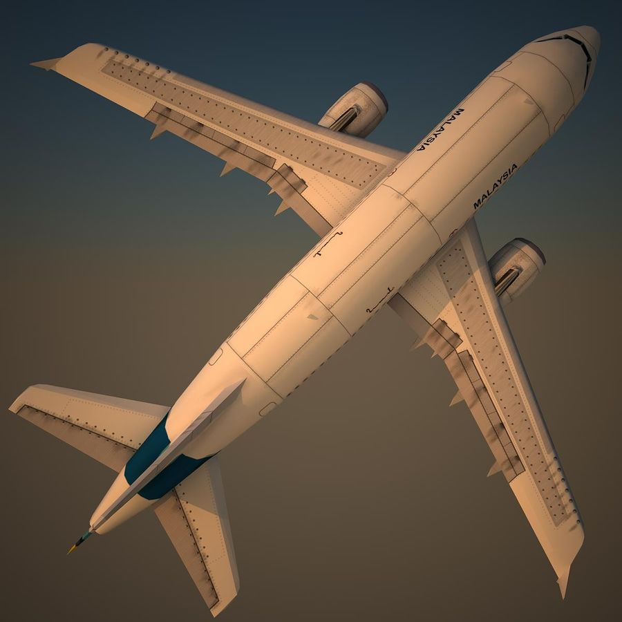 A319 RMF royalty-free 3d model - Preview no. 5