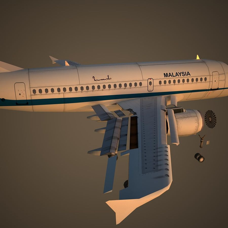A319 RMF royalty-free 3d model - Preview no. 11