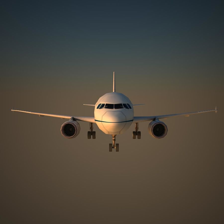A319 RMF royalty-free 3d model - Preview no. 2