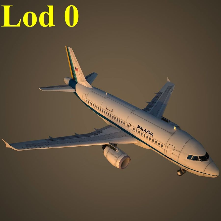 A319 RMF royalty-free 3d model - Preview no. 13
