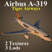 A319 TGW 3d model