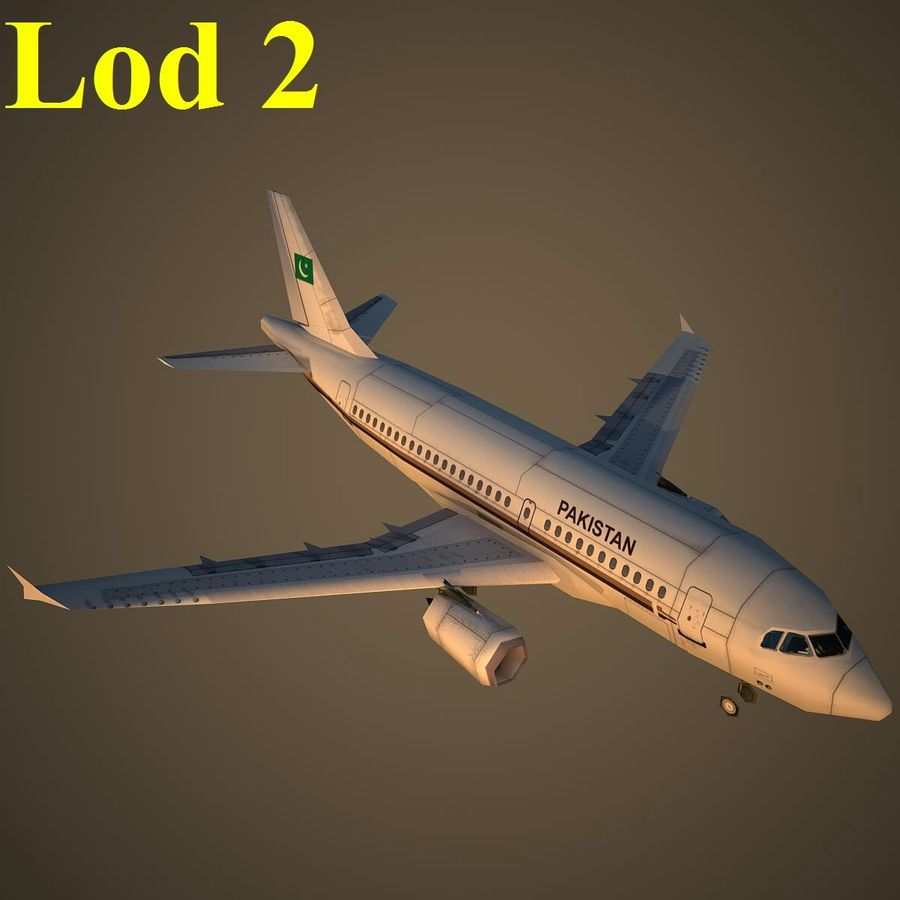 A319 VIP royalty-free 3d model - Preview no. 15