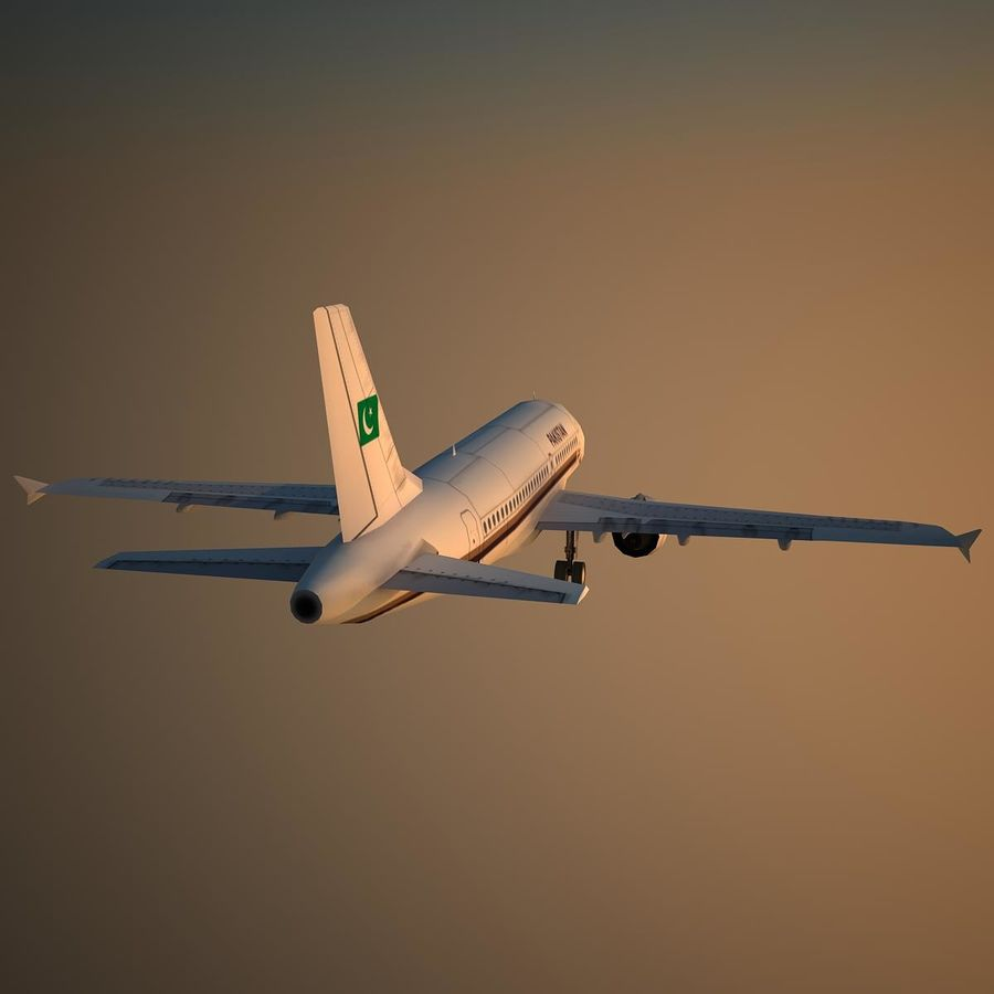 A319 VIP royalty-free 3d model - Preview no. 9