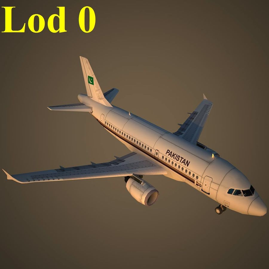 A319 VIP royalty-free 3d model - Preview no. 13