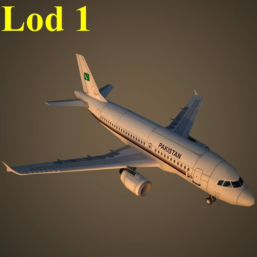 A319 VIP royalty-free 3d model - Preview no. 14