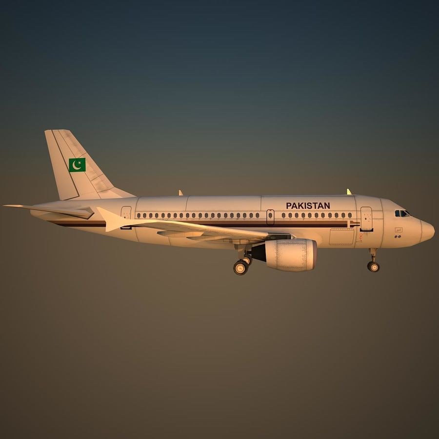 A319 VIP royalty-free 3d model - Preview no. 3