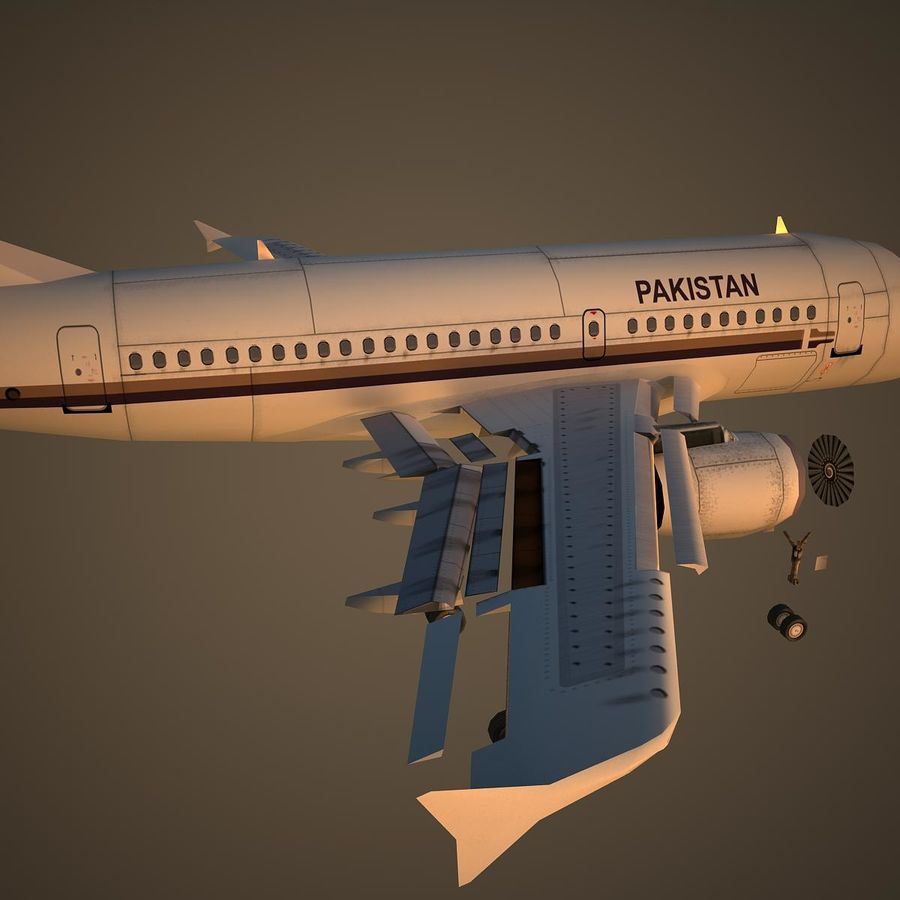A319 VIP royalty-free 3d model - Preview no. 11