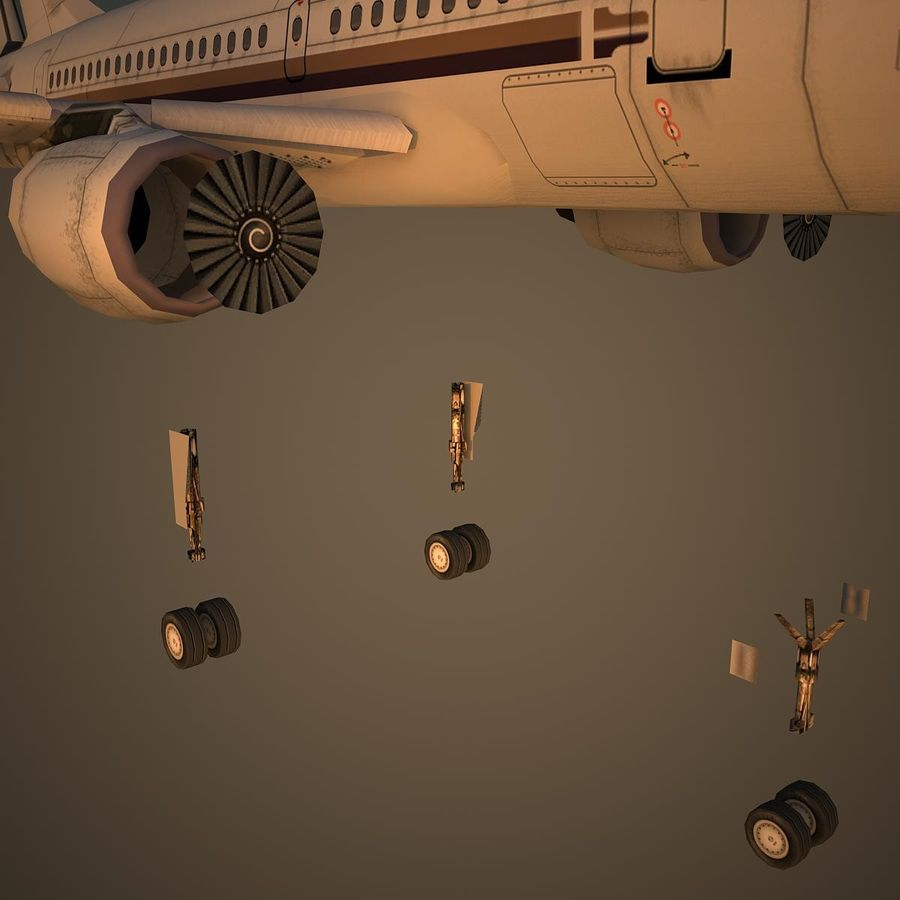A319 VIP royalty-free 3d model - Preview no. 10