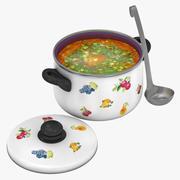 Kruka med soppa 3d model