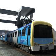Метро Поезд 3d model