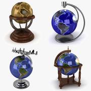 Kolekcja World Globe 3d model