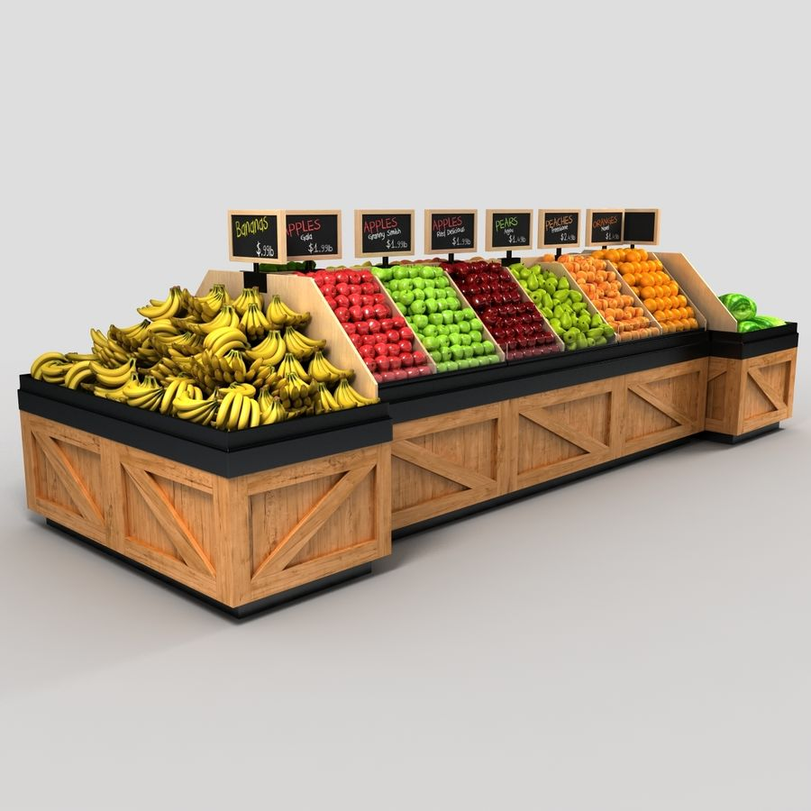 Fruit Display royalty-free 3d model - Preview no. 2