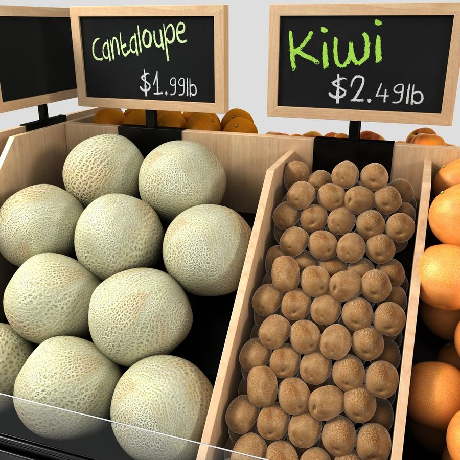 Fruit Display royalty-free 3d model - Preview no. 5