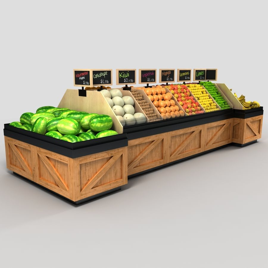Fruit Display royalty-free 3d model - Preview no. 3