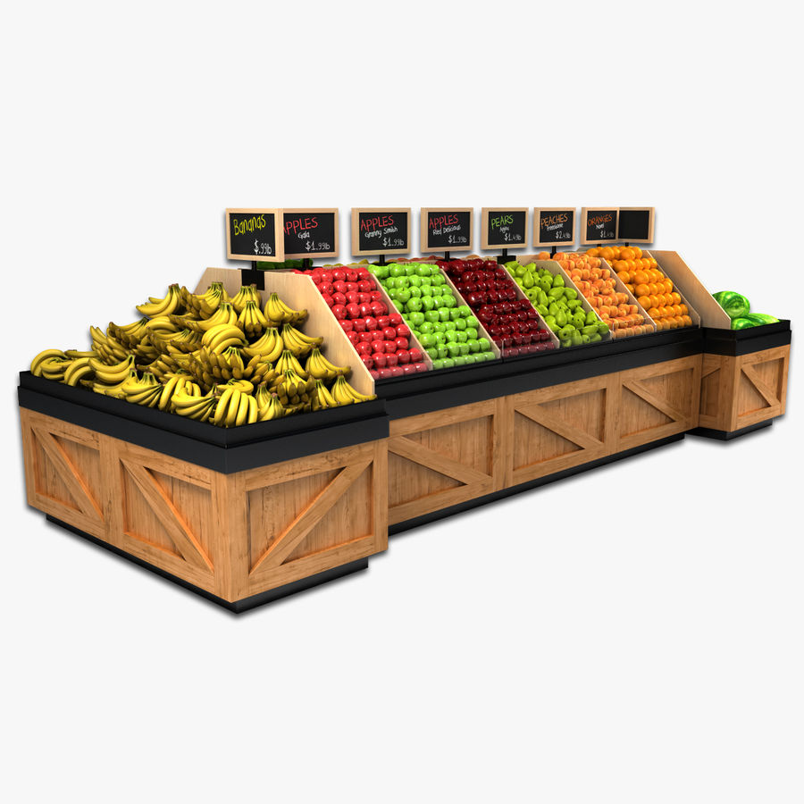 Fruit Display royalty-free 3d model - Preview no. 1