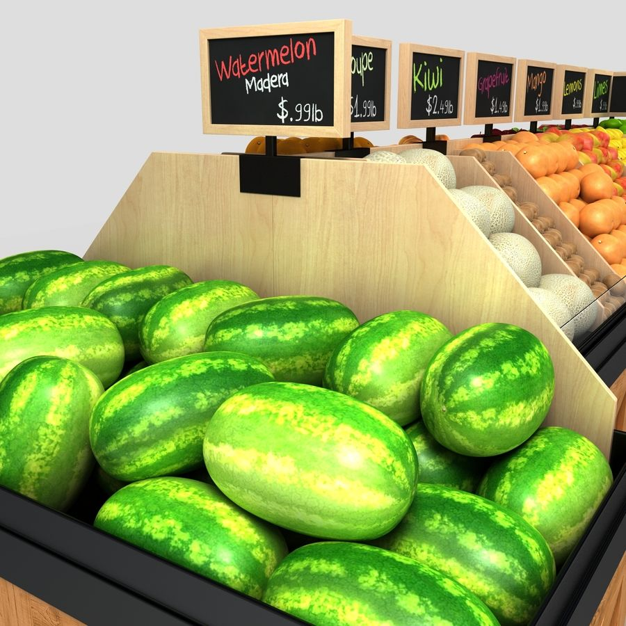 Fruit Display royalty-free 3d model - Preview no. 4
