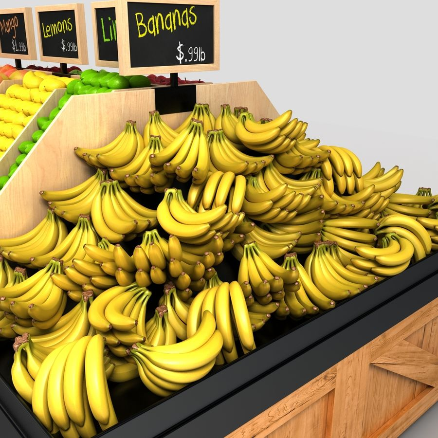Fruit Display royalty-free 3d model - Preview no. 8