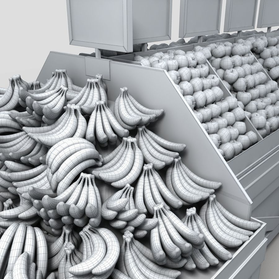 Fruit Display royalty-free 3d model - Preview no. 14