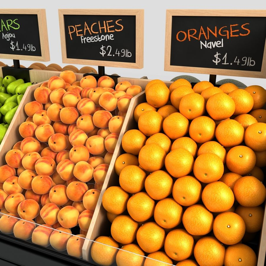 Fruit Display royalty-free 3d model - Preview no. 9