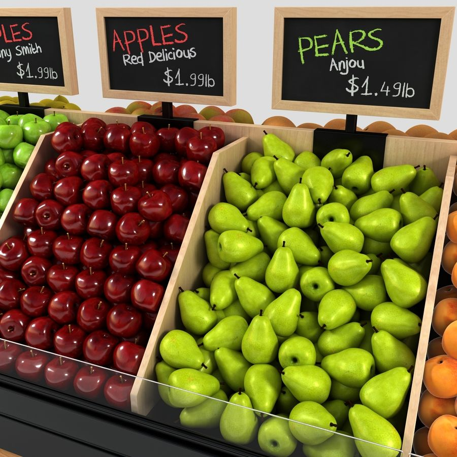 Fruit Display royalty-free 3d model - Preview no. 10