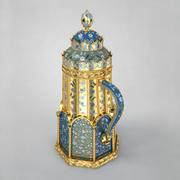 Chope en émail Fabergé 3d model