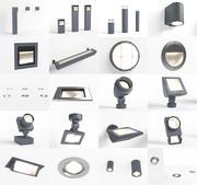 Erco outdoor lighting pack 3d model
