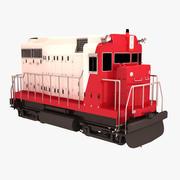 Pequeño tren modelo 3d