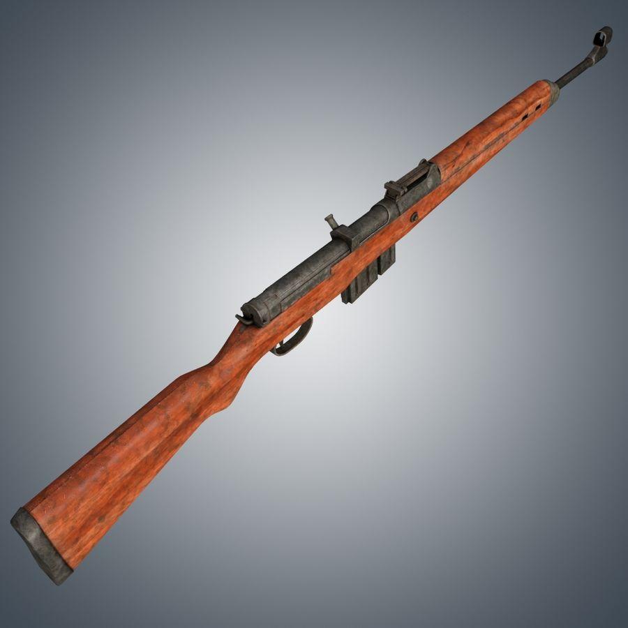 Gewehr 43 / Karabiner 43 royalty-free 3d model - Preview no. 3