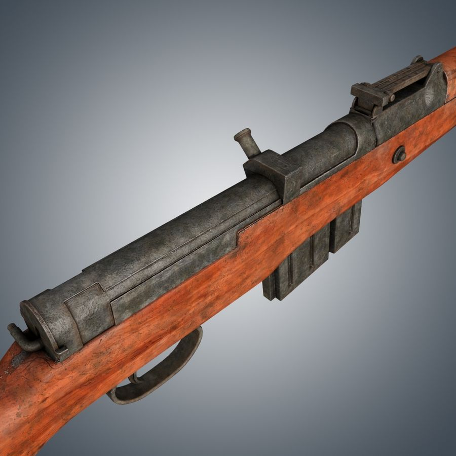 Gewehr 43 / Karabiner 43 royalty-free 3d model - Preview no. 4