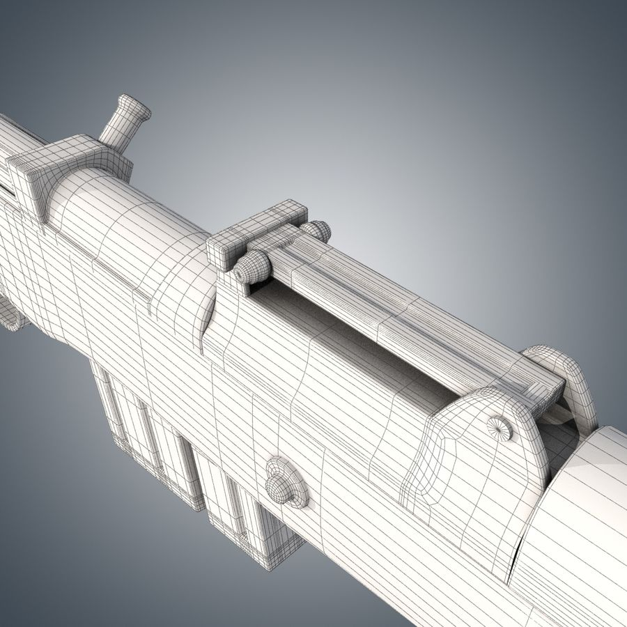 Gewehr 43 / Karabiner 43 royalty-free 3d model - Preview no. 10