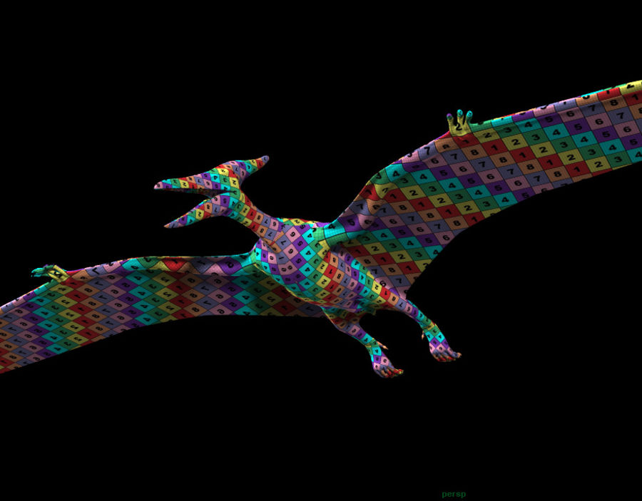 Jurassic Park - Pteranodon royalty-free 3d model - Preview no. 13