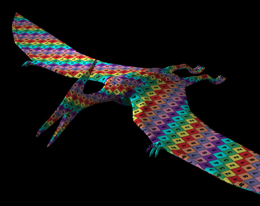 Jurassic Park - Pteranodon royalty-free 3d model - Preview no. 11