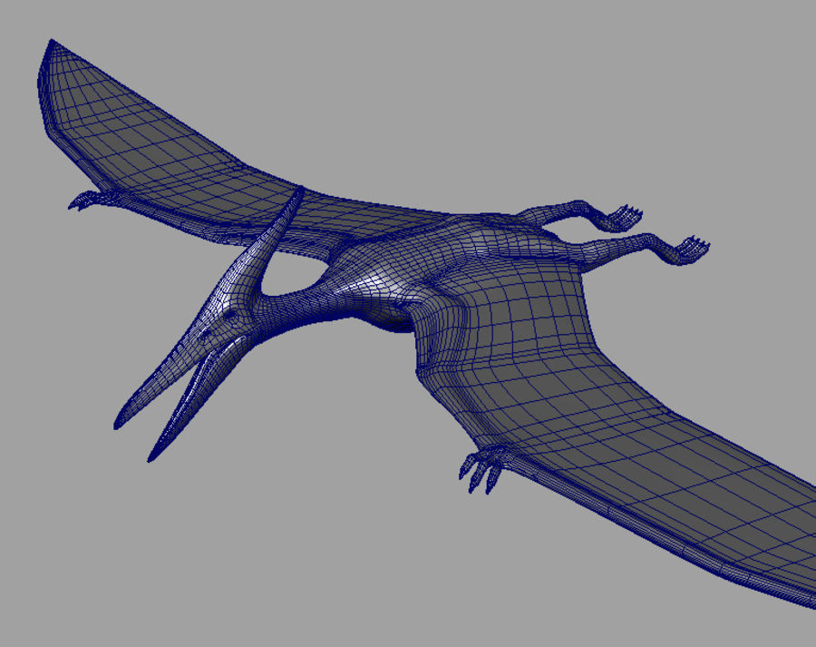 Jurassic Park - Pteranodon royalty-free 3d model - Preview no. 7